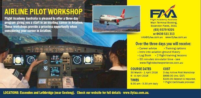 Student Airline Pilot Workshop Melbourne