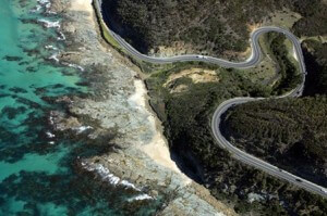 Fly over the Great Ocean Road Coast